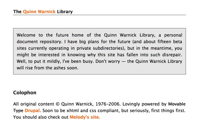 Quinn Warnick's Electronic Portfolio, 2006